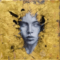"""Gilded"" Mixed Media Painting"