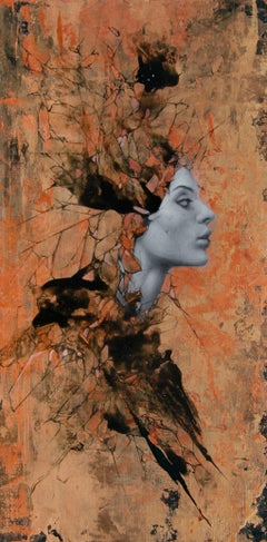 """""""Copper"""" Mixed Media Painting"""