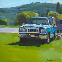 """""""A Blue Dodge"""" Oil Painting"""