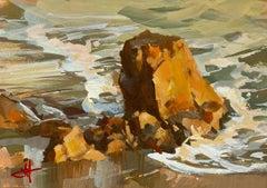 """""""Warm Sands"""" Gouache Painting"""