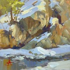 """Snow Light"" Gouache Painting"