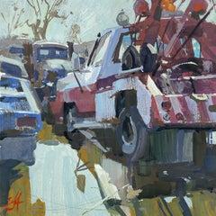 """Junkyard Study"" Gouache Painting"