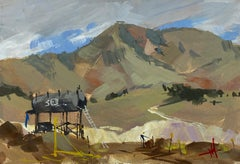 """""""Foothills Reserve"""" Gouache Painting"""