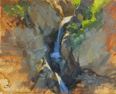 """Big Sur Falls"" Oil Painting"