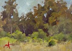 """A Path Through the Wood"" Gouache Painting"