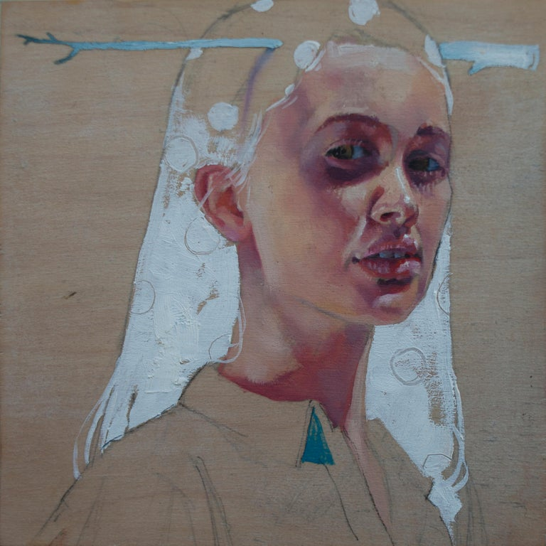 """Joshua Lawyer Portrait Painting - """"Antler"""" Oil Painting"""