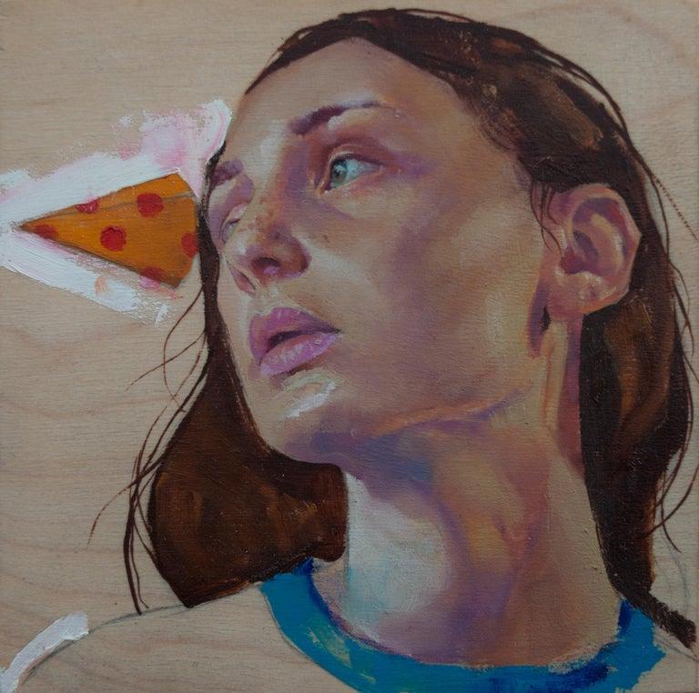 "Joshua Lawyer Portrait Painting - ""Beak"" Oil Painting"