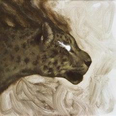 """""""Smokey Jaguar"""" Oil Painting"""
