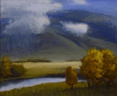 """""""Low Clouds"""" Oil painting"""