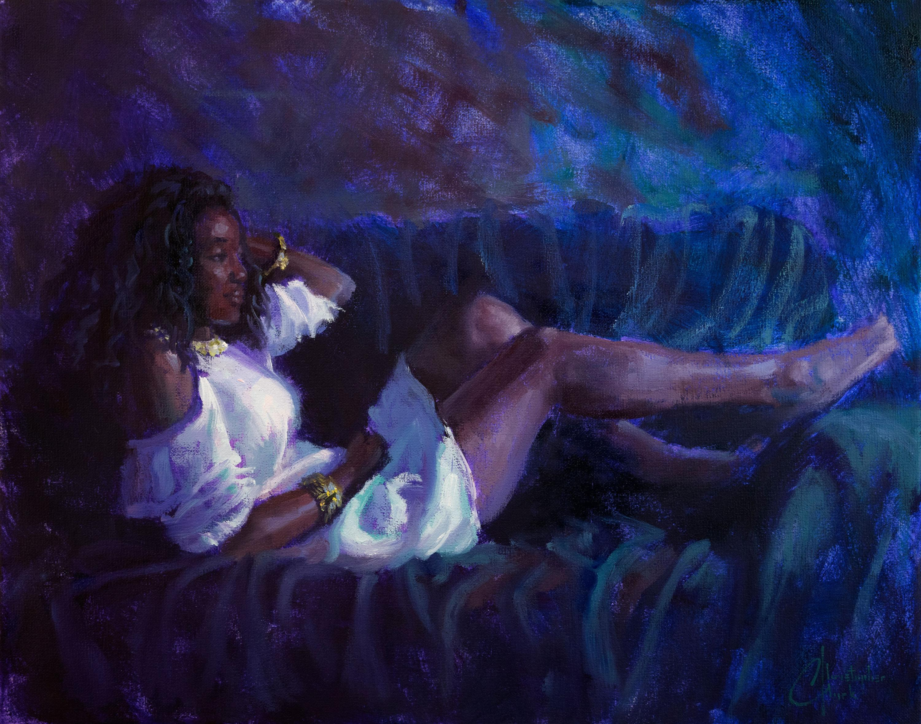 """""""Reclining Figure"""" Oil Painting"""