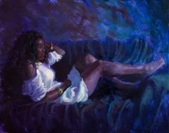 """Reclining Figure"" Oil Painting"