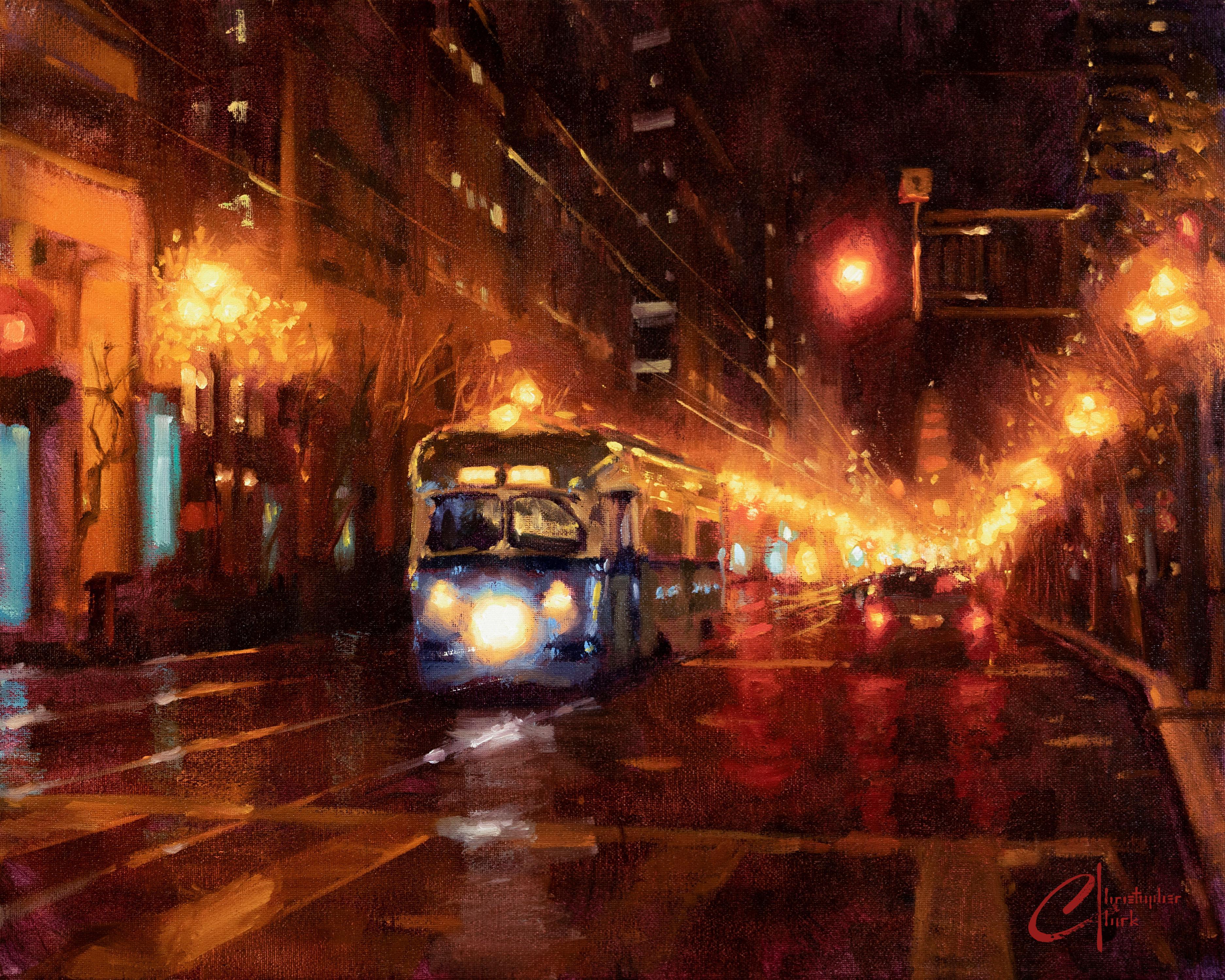 """San Francisco Night"" Oil Painting"