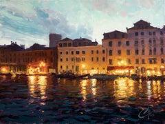 """Venice Nights"" Oil Painting"