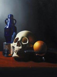 """Vanitas with Marine Corps Coin"" Oil Painting"