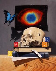 """Quoting Sagan"" Oil Painting"