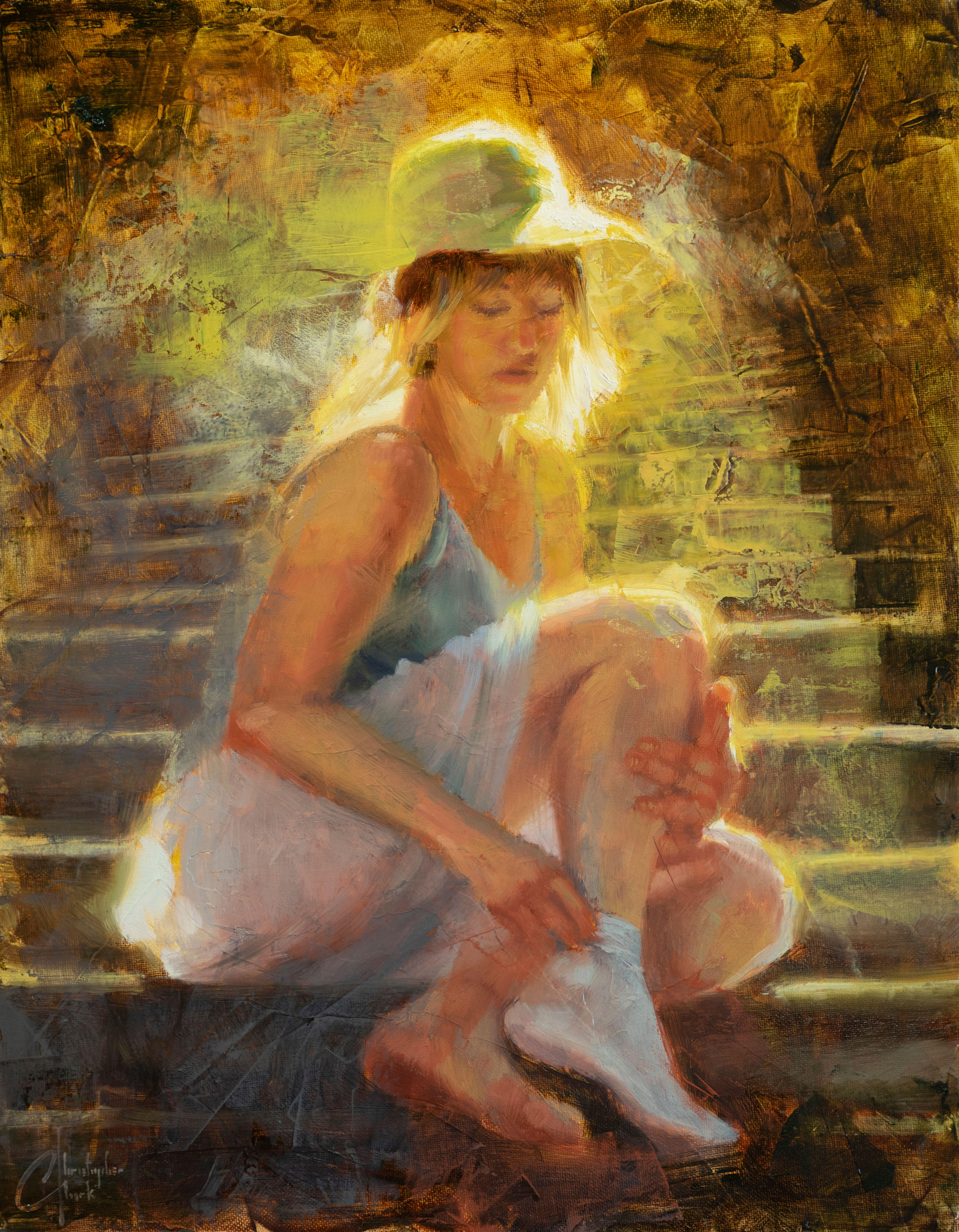 """""""Rome Staircase"""" Oil Painting"""