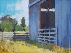 """Tin Barn"" Oil Painting"