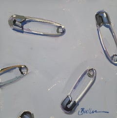 """""""Safety Pins"""" Oil Painting"""