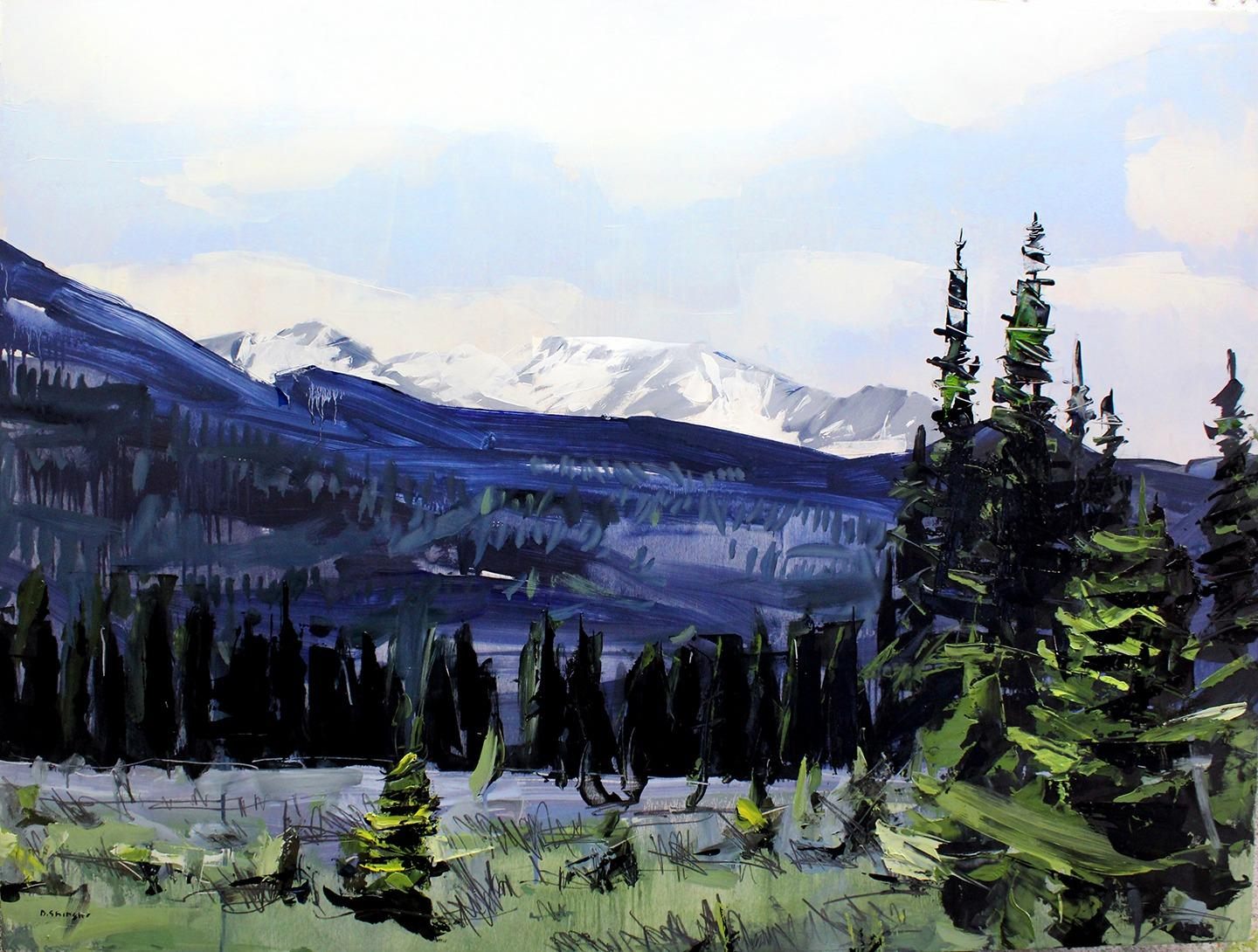 """""""Rocky Mountain National Park"""" Oil Painting"""