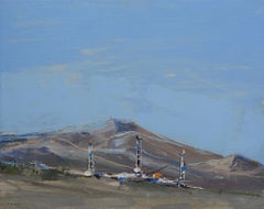 """""""Oil Rigs"""" Oil Painting"""