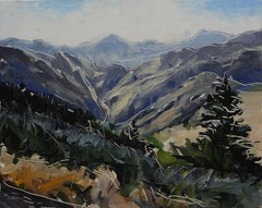"""""""Lookout Mountain, Golden"""" Oil Painting"""