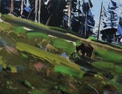 """""""Grazing Grizzly"""" Oil Painting"""