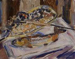 """""""Fishing Reel"""" Oil Painting"""