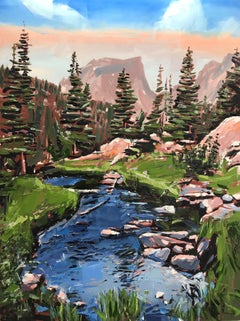 """Dream Lake, RMNP, CO"" Oil Painting"