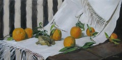 """""""Oranges and China Frog,"""" Oil Painting"""