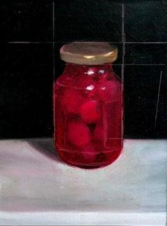 """""""Bottle of Cherries"""" Oil painting"""