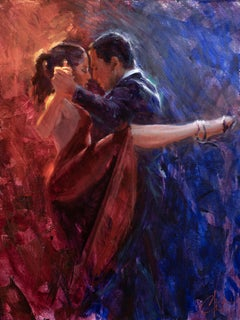 """Red Tango"" Oil Painting"