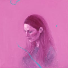 """V in Magenta"" Oil painting"
