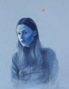"""L in Ultramarine"" Oil painting"