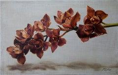 """Cymbidium Orchids II"" Oil painting"