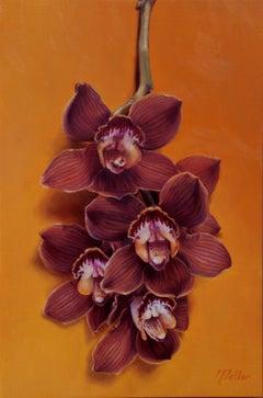 """Cymbidium Orchids"" Oil painting"