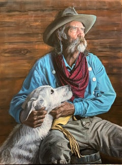 """""""Cowboy's Best Friend"""" Oil painting"""