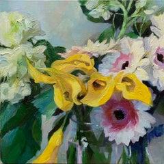"""Yellow Burst"", Oil painting"