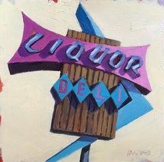 """""""Beverly Mart Liquor"""", Oil Painting"""