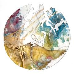 """Steady Rising"" Mixed media painting"