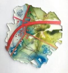 """""""Rye Bread"""" Mixed media painting"""