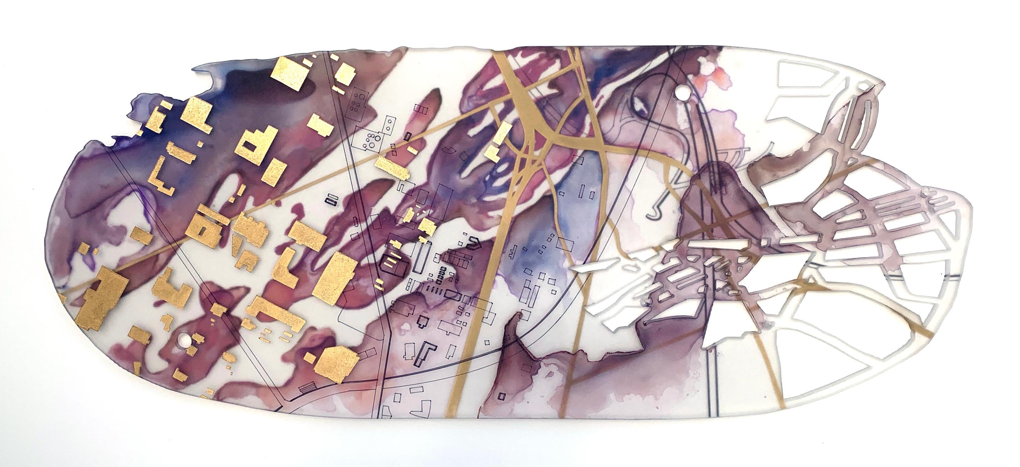 """""""Greta's Arc"""" Mixed media painting"""