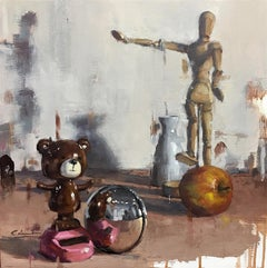 """""""Let's Play Ball"""" Oil Painting"""