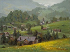 """The Hills are Alive"", Oil painting"