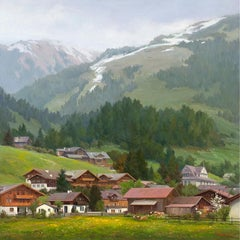 """Beneath the Noble Alps"", Oil painting"