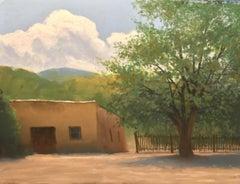 """Church Yard"", Pastel Drawing"