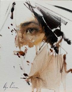 """Gaze"" Oil painting"