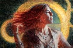 """Conjuring"" Mixed media Painting"