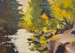 """""""Telluride in Fall,"""" Gouache Painting"""
