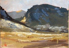 """""""Foothills in Shadow,"""" Gouache Painting"""