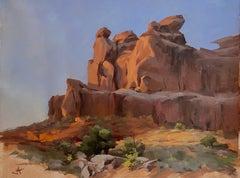 """""""Sandstone Sunrise,"""" Oil painting"""